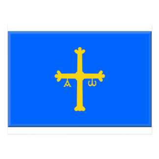 Asturias Flag (Spain) Postcard