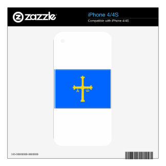 Asturias Flag (Spain) Skin For iPhone 4