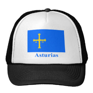 Asturias flag with name trucker hat