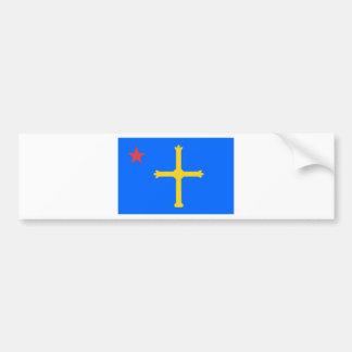 Asturias Socialist Flag - Asturina Estrella Roja Bumper Sticker