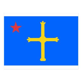 Asturias Socialist Flag - Asturina Estrella Roja Postcard