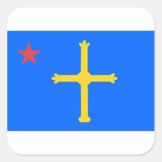 Asturias Socialist Flag - Asturina Estrella Roja Square Sticker