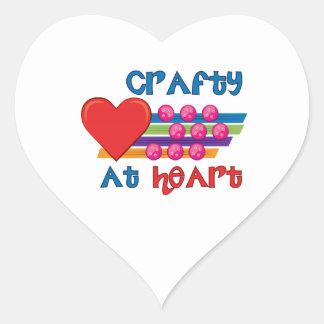 Astuto en el corazón pegatina en forma de corazón