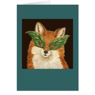 Astuto la tarjeta del zorro