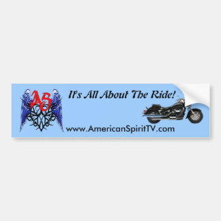 ASTV Bumper Sticker - It's All About The Ride Car Bumper Sticker