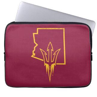 ASU   Classic State Logo Computer Sleeve
