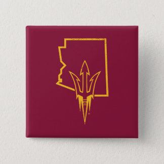 ASU   Classic State Logo Pinback Button