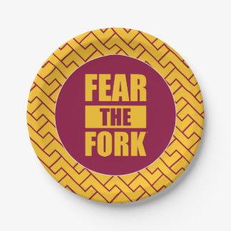ASU Fear the Fork   Fret Pattern Paper Plate