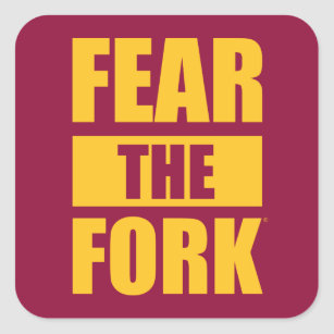 ASU Fear the Fork Square Sticker