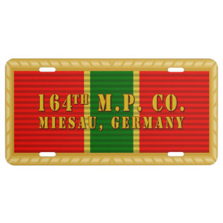 ASUA Ribbon with Unit Name License Plate