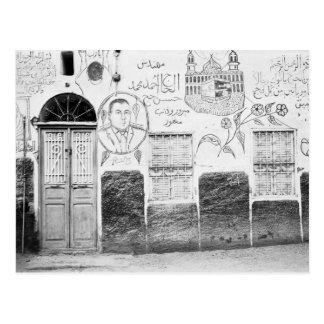 Asuán Egipto, casa adornada Postales