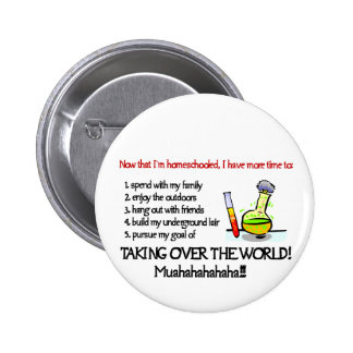 Asuma el control el botón del mundo pin redondo de 2 pulgadas