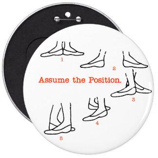 Asuma los regalos del ballet de la posición pin redondo de 6 pulgadas