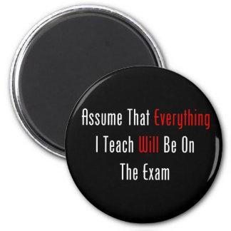Asuma que todo estará en el examen imán redondo 5 cm