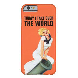 Asumo el control hoy el mundo funda de iPhone 6 barely there