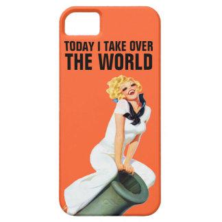 Asumo el control hoy el mundo iPhone 5 funda