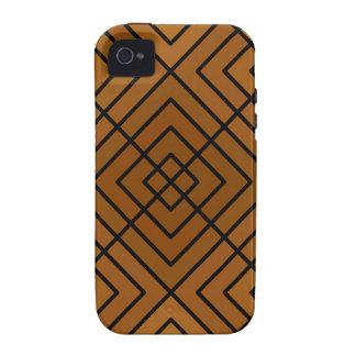 Asunto cuadrado de Brown Vibe iPhone 4 Carcasas