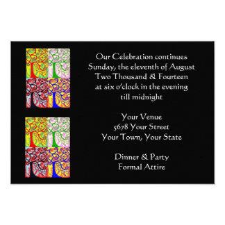 """Asunto de la tarde """"que nuestra celebración contin invitaciones personales"""
