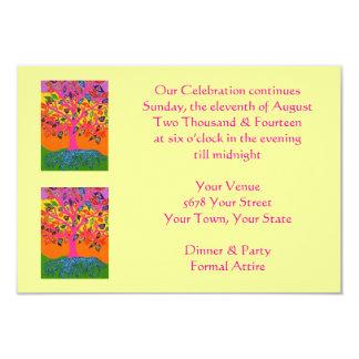 """Asunto de la tarde """"que nuestra celebración invitación 3.5"""" x 5"""""""