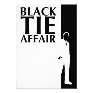 asunto de lazo negro: silueta seria