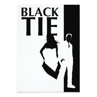 """asunto de lazo negro: siluetas del hombre y de la invitación 5"""" x 7"""""""