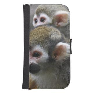 Asunto del mono de ardilla billetera para galaxy s4