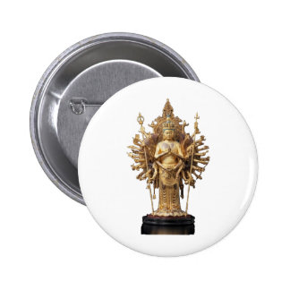 Asura image (a palpus and others u) - statue of Bu 2 Inch Round Button