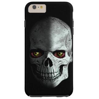 Asustadizo, espeluznante, cráneo del zombi con los funda para iPhone 6 plus tough