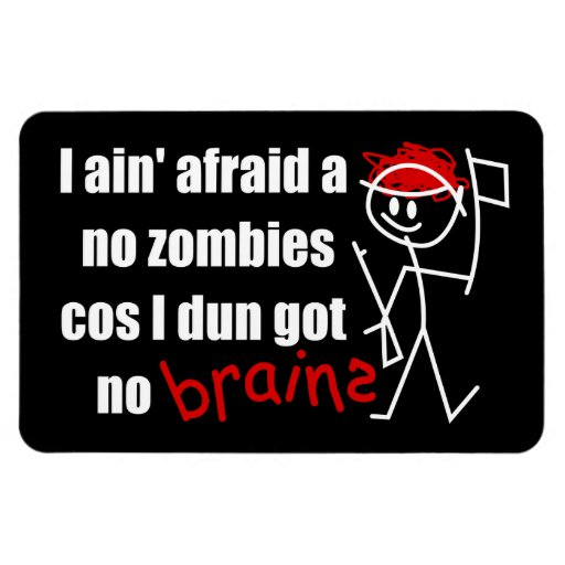 Asustado de zombis imán de vinilo