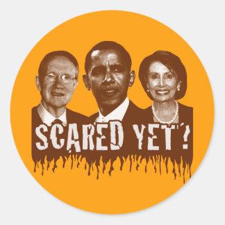 ¿Asustado todavía? Etiquetas Redondas