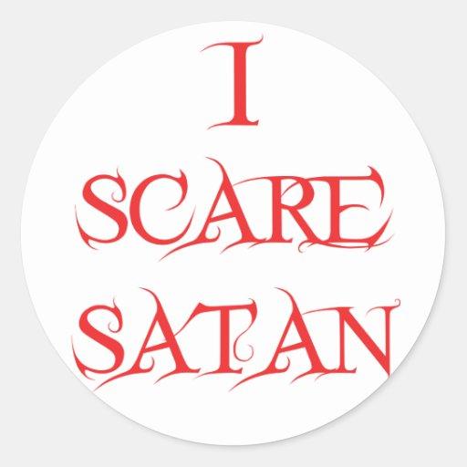 Asusto Satan Pegatina Redonda