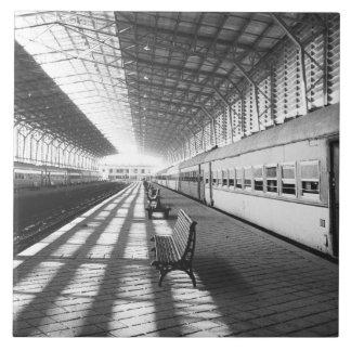 Aswan Egypt, Interior of Aswan Dam Train Station Tile