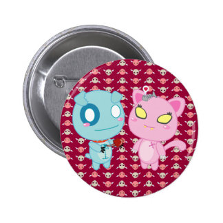 Asyl & Nadel Valentine - My Heart is Yours Pinback Button