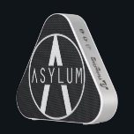 """Asylum Bluetooth speaker<br><div class=""""desc"""">Music makes the soul happy,  so why not make yours happy and get this portable Asylum Blue tooth speaker.  Not it&#39;s not in the shape of a triangle for the Illuminati...   Or is it?</div>"""