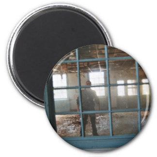 Asylum Window 2 Inch Round Magnet