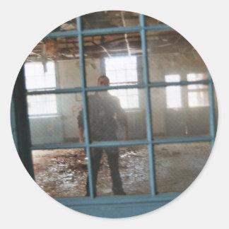 Asylum Window Classic Round Sticker