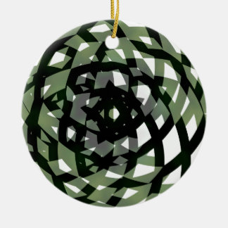 Asym Star Double-Sided Ceramic Round Christmas Ornament