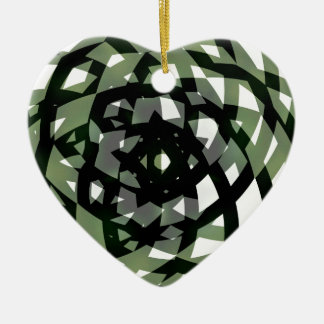 Asym Star Double-Sided Heart Ceramic Christmas Ornament