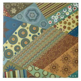 Asymmetric Patchwork Pattern Ceramic Tile