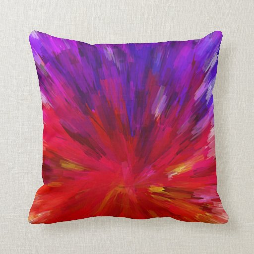 Asymmetrical And Colorful Pattern Red And Purple Throw Pillow Zazzle