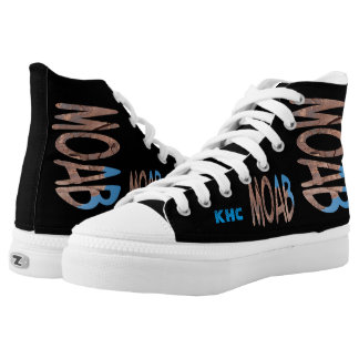 "Asymmetrical Date + Monogram Personalized ""Moab"" High-Top Sneakers"