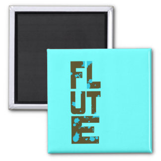Asymmetrical Flute 2 Inch Square Magnet