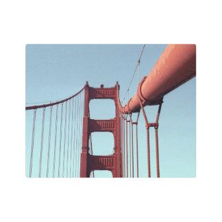 Asymmetrical Golden Gate Bridge Photo Metal Photo Print