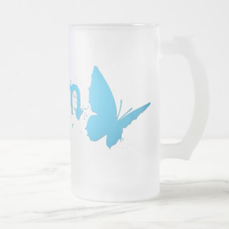 asyrum. frosted glass beer mug