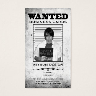 asyrum wanted poster business card