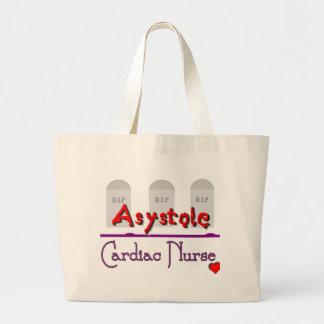 Asystole Cardiac Nurse w TOMBSTONES Jumbo Tote Bag