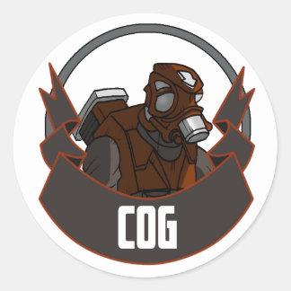 AT-43 Comic Cog Classic Round Sticker