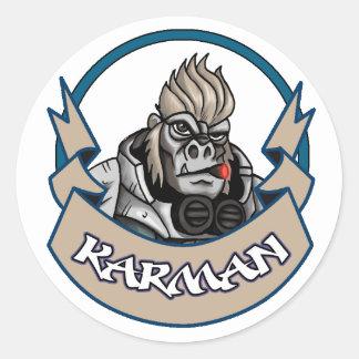 AT-43 Comic Karman Classic Round Sticker
