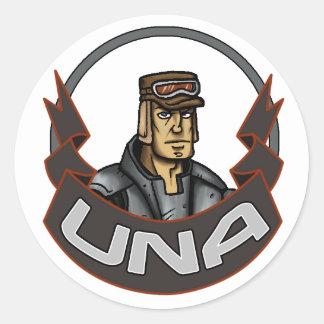 AT-43 Comic UNA Classic Round Sticker