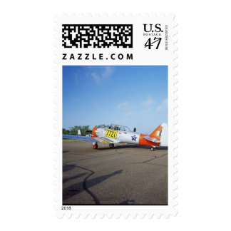 AT-6 SNJ Harvard airplane at the Fleming Field, Postage